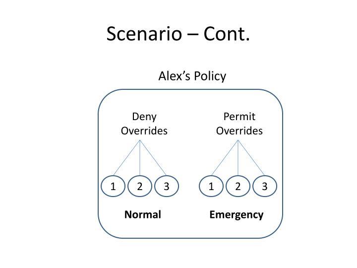 Scenario – Cont.