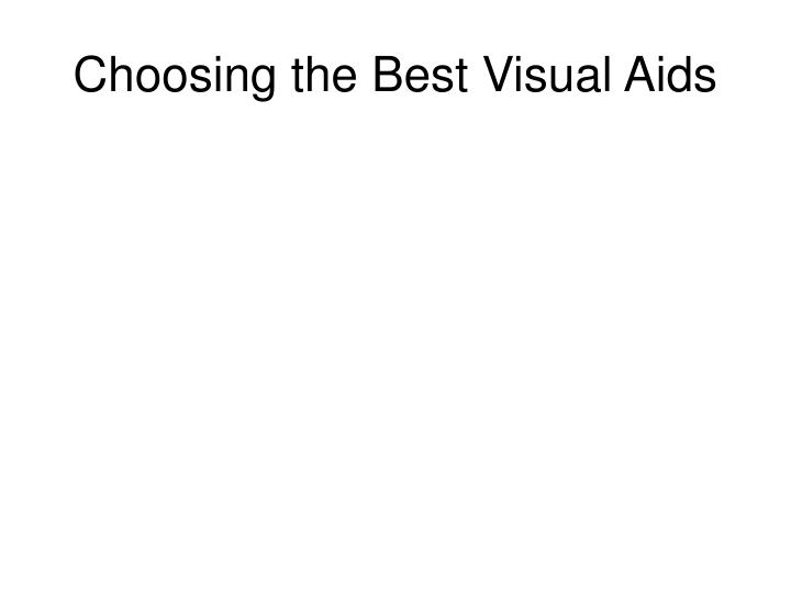 Choosing the Best Visual Aids