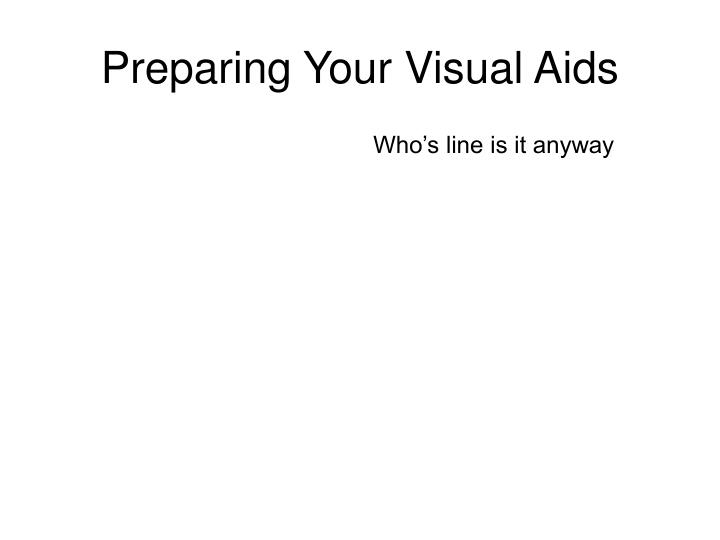 Preparing Your Visual Aids
