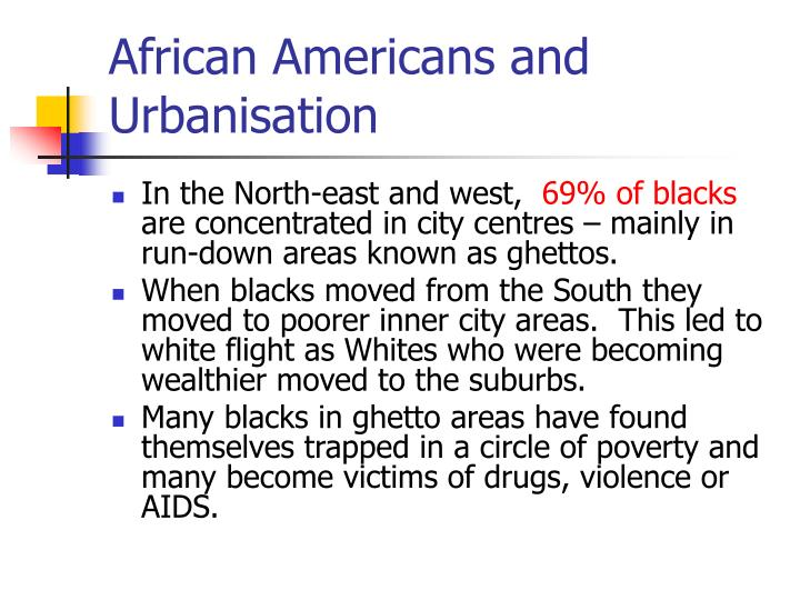 African Americans and Urbanisation
