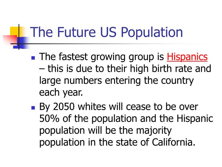 The Future US Population
