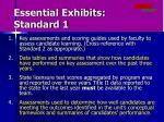 essential exhibits standard 1