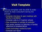 visit template
