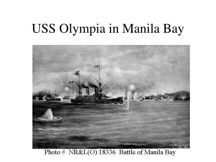 USS Olympia in Manila Bay