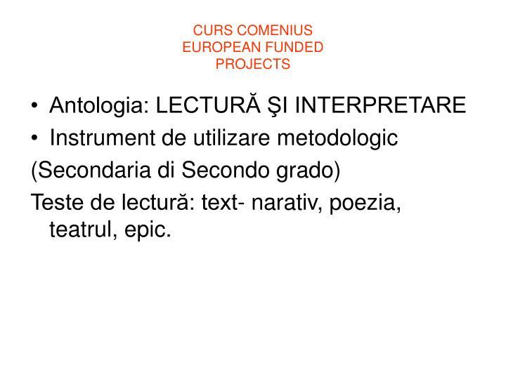 CURS COMENIUS