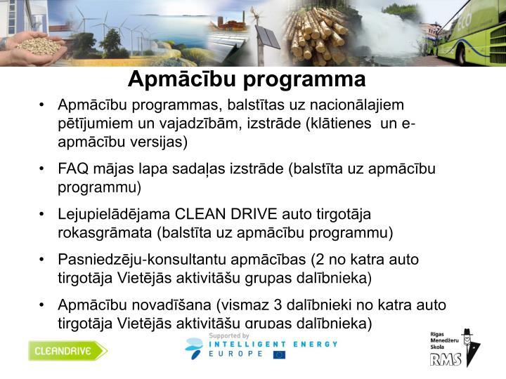 Apmācību programma