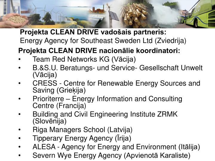 Projekta CLEAN DRIVE vadošais partneris: