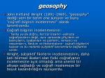 geosophy