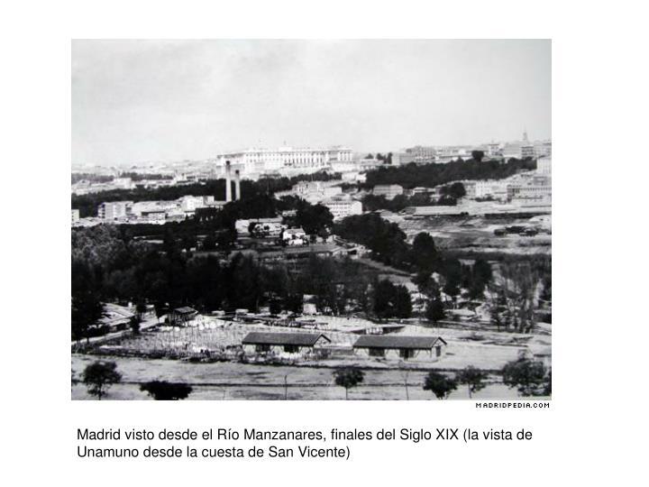 Madrid visto desde el R
