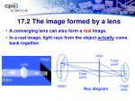 17 2 the image formed by a lens1