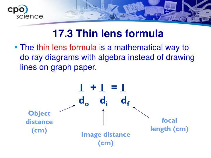 17.3 Thin lens formula