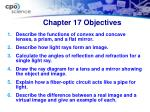 chapter 17 objectives