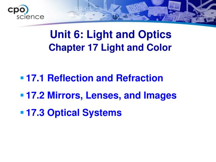 Unit 6 light and optics