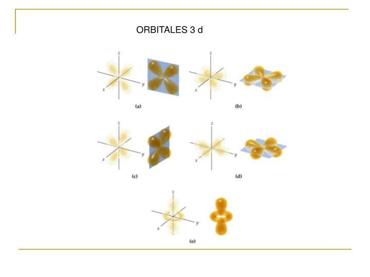 ORBITALES 3 d