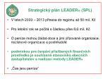 strategick pl n leader spl