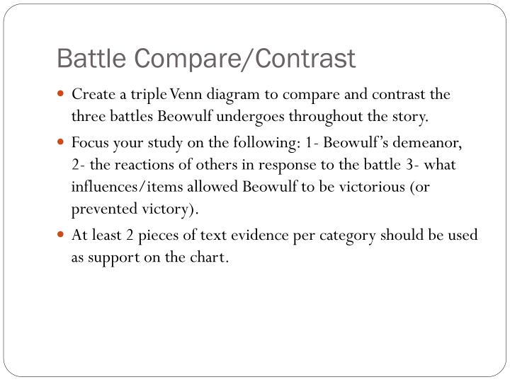 Battle Compare/Contrast