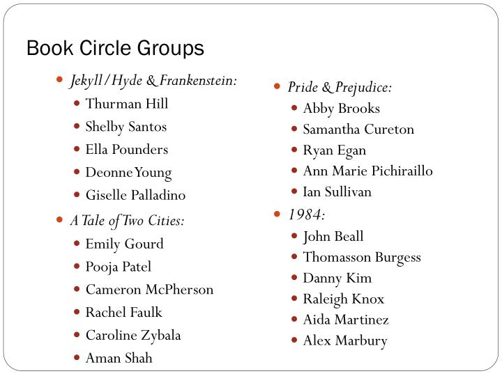 Book Circle Groups
