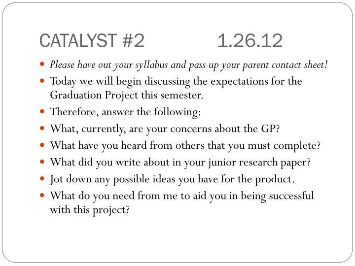 CATALYST #21.26.12