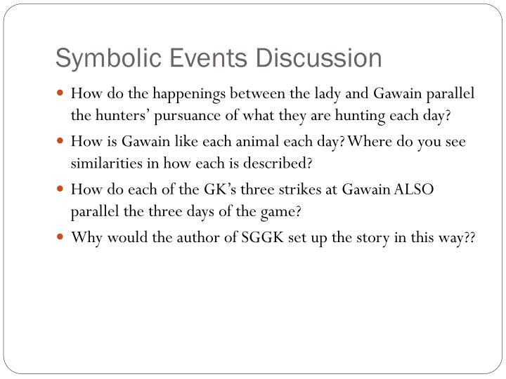 Symbolic Events Discussion