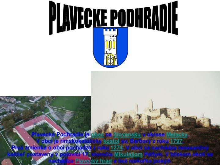 PLAVECKE PODHRADIE