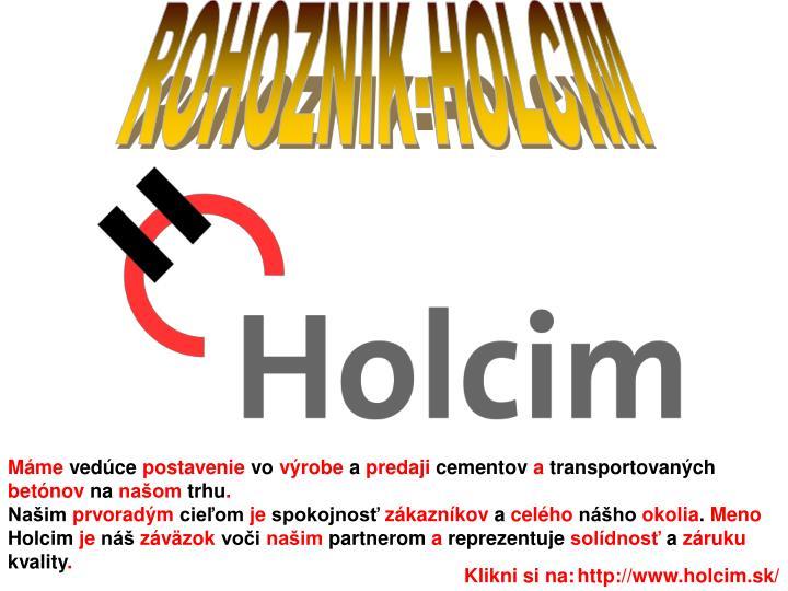 ROHOZNIK-HOLCIM