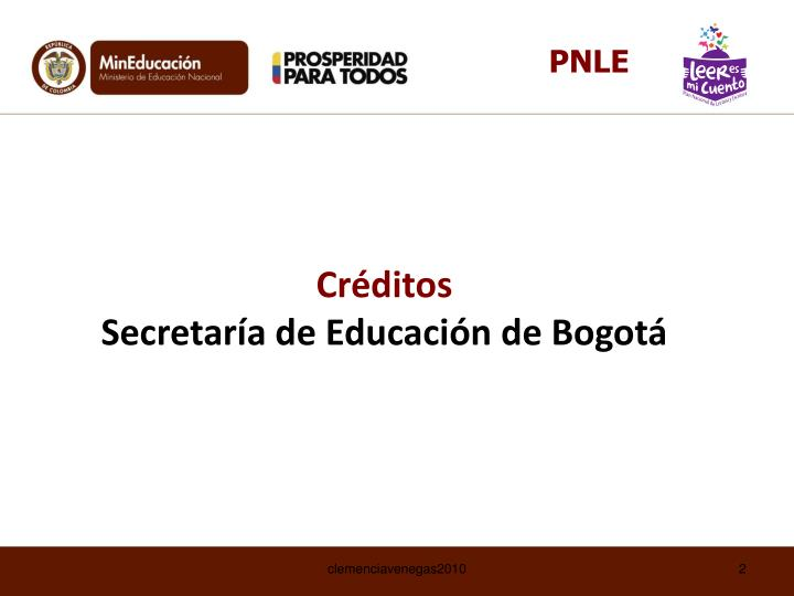 Cr ditos secretar a de educaci n de bogot