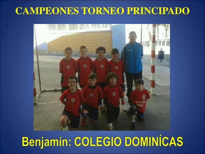 CAMPEONES TORNEO PRINCIPADO