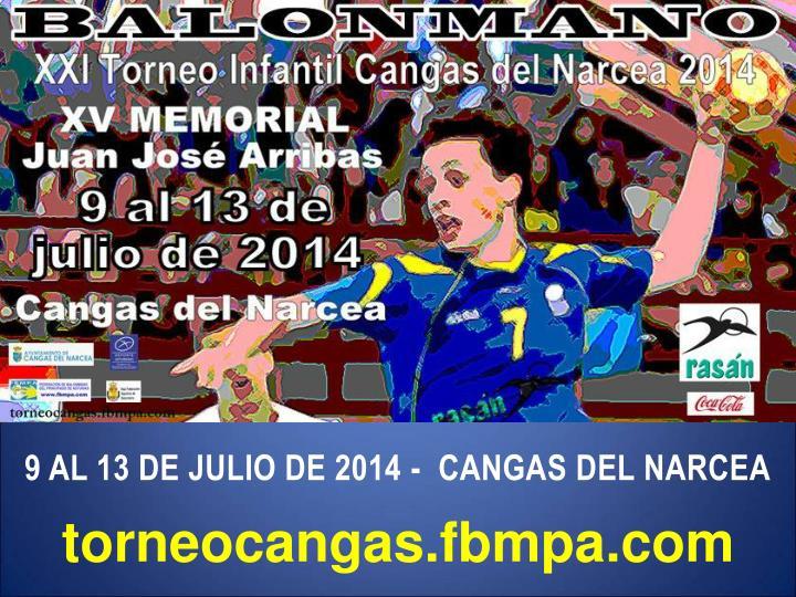 9 AL 13 DE JULIO DE 2014 -  CANGAS DEL NARCEA