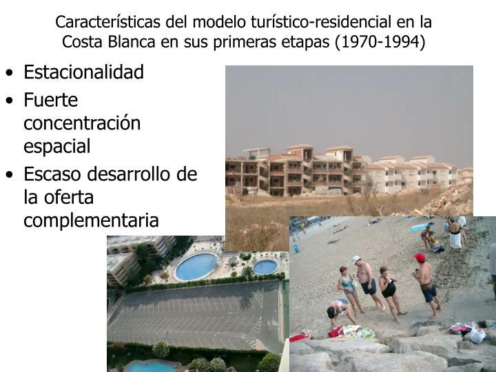 Características del modelo turístico-residencial en la Costa Blanca en sus primeras etapas (1970-1994)