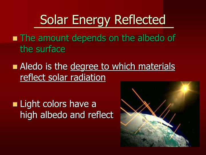 Solar Energy Reflected