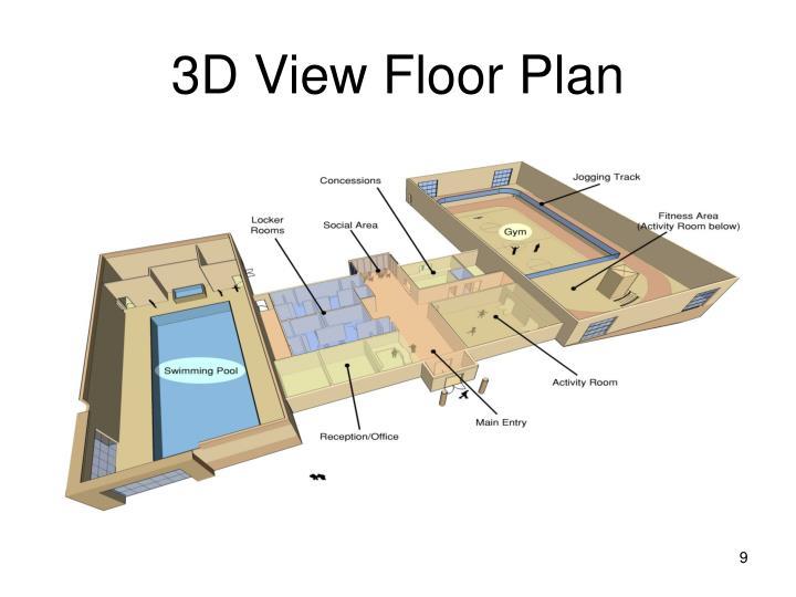 3D View Floor Plan