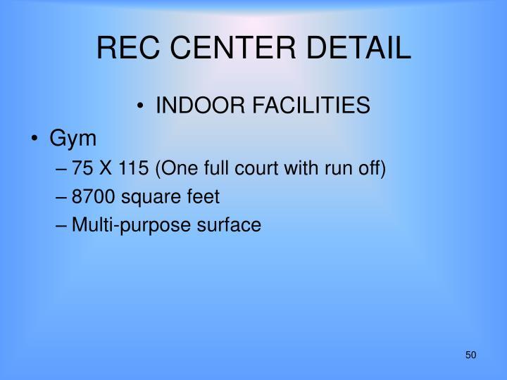 REC CENTER DETAIL