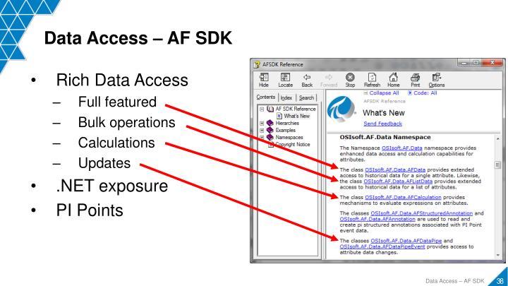 Data Access – AF SDK