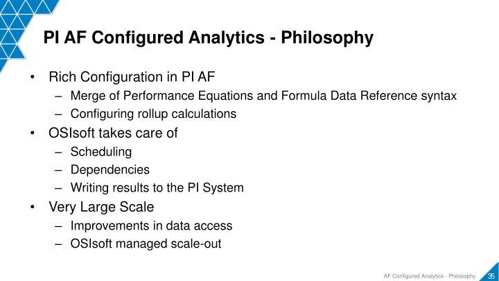 PI AF Configured Analytics - Philosophy
