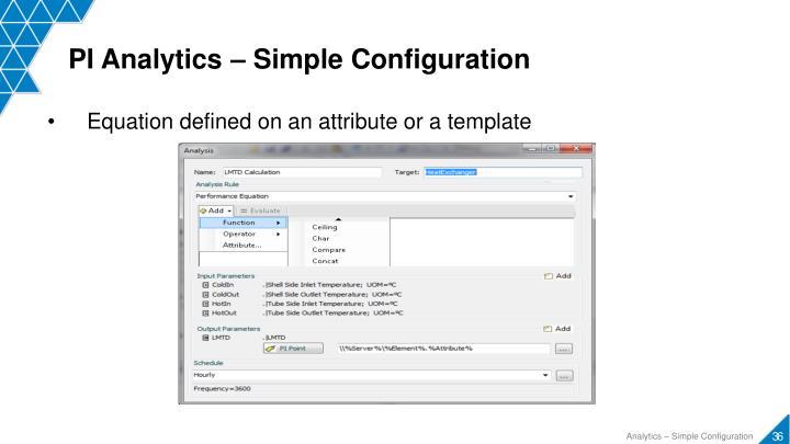 PI Analytics – Simple Configuration
