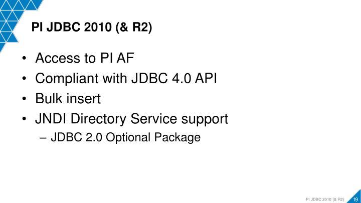 PI JDBC 2010 (& R2)