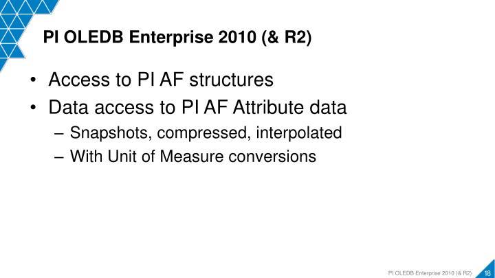 PI OLEDB Enterprise 2010 (& R2)