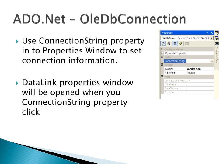 ADO.Net – OleDbConnection