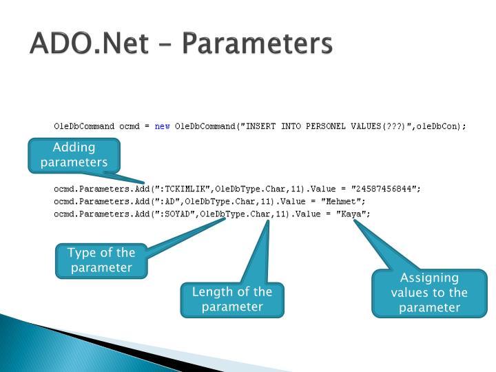 ADO.Net – Parameters
