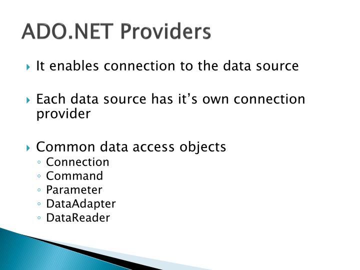 ADO.NET Providers