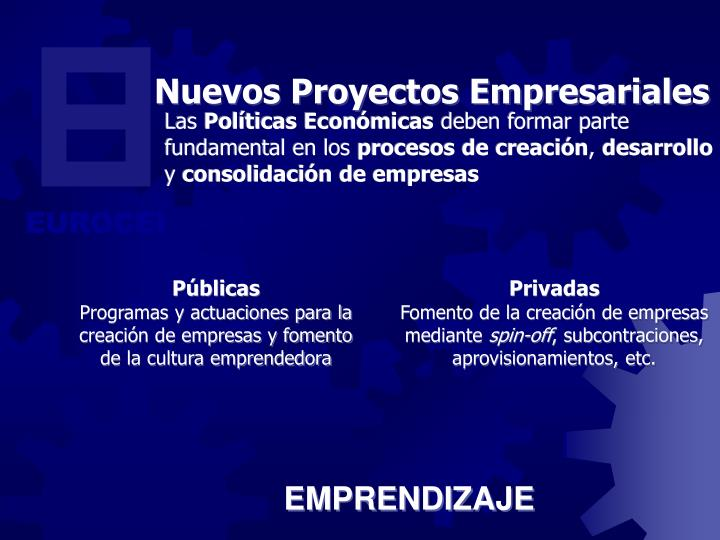 Nuevos Proyectos Empresariales