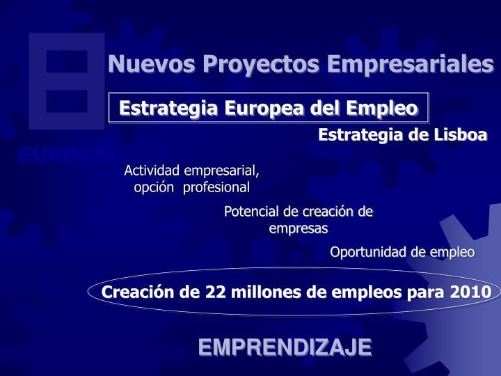 Creación de 22 millones de empleos para 2010