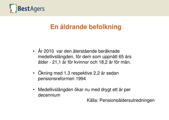 En åldrande befolkning