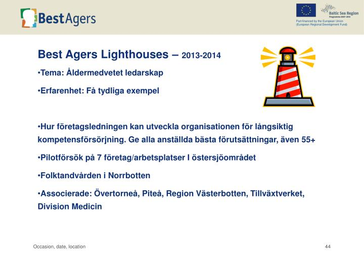 Best Agers Lighthouses –