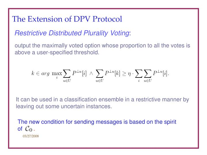 The Extension of DPV Protocol