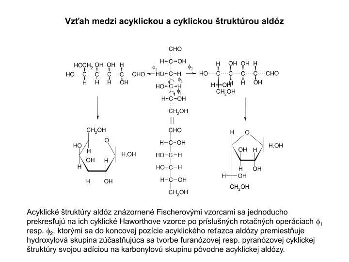 Vzťah medzi acyklickou a cyklickou štruktúrou aldóz
