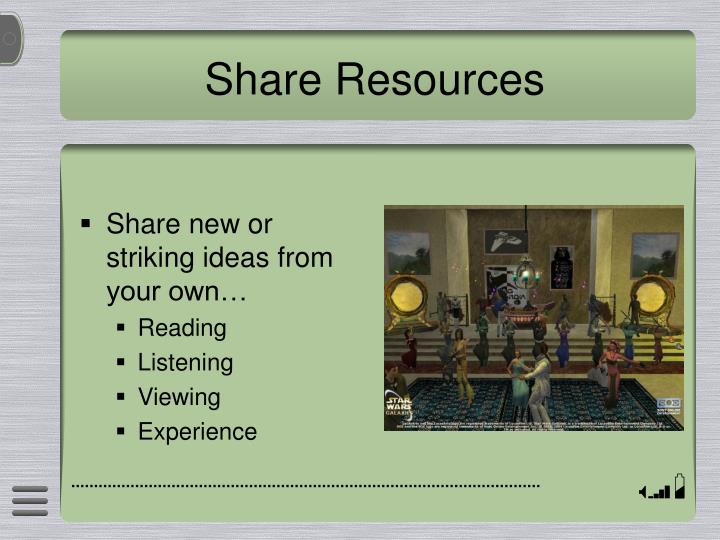 Share Resources