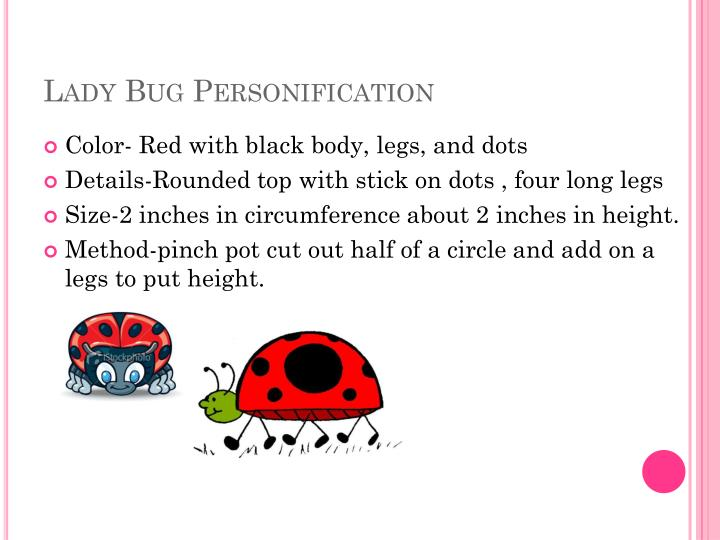 Lady bug personification