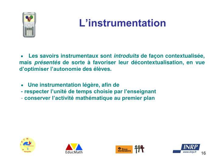 L'instrumentation
