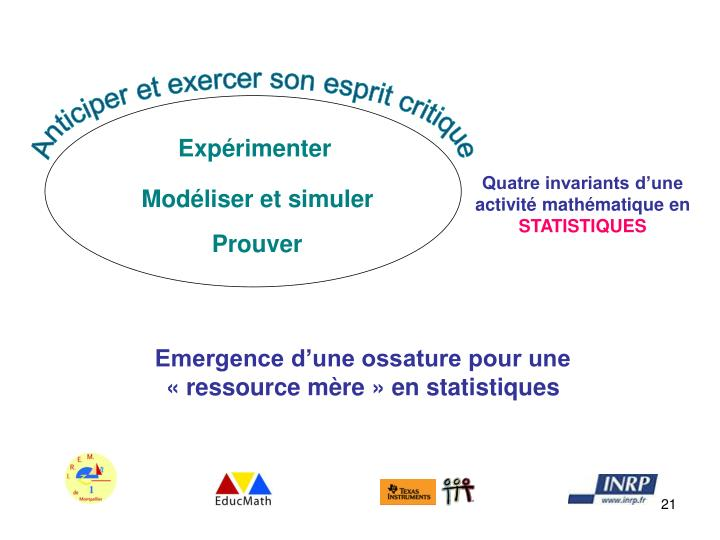 Anticiper et exercer son esprit critique